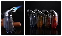 Double Flame Lighter Windproof Refillable Cigarette Cigar Torch Jet Lighters New
