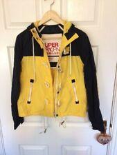 SUPER DRY Size  Small Waterproof Hood Dock Duffle Jacket Toggles Yellow Mix