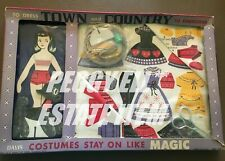 """TRUE VINTAGE """"DAVIS NO. 242 TOWN AND COUNTRY"""" PAPER DOLL CLOTHES TO EMBROIDER"""
