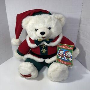 "Vintage SNOWFLAKE TEDDY 1995 Christmas Plush 20"" Stuffed BEAR"
