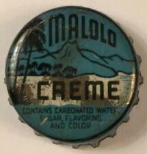 MALOLO CREME SODA BOTTLE CAP; HONOLULU, TERRITORY OF HAWAII; 1950-58; USED CORK