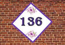 House Door Number Sign Flower  Design Metal Door Sign
