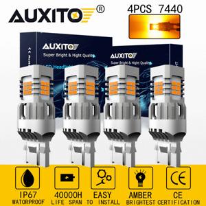AUXITO Amber 7440 LED Turn Signal Light Yellow CANBUS Error Free AntiHyper Flash