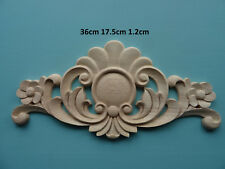 In legno grande fiore centrale APPLIQUE Furniture modanature decorative Onlay C630