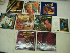 NOËL- CHRISTMAS- Musiques- Chants- Douce Nuit- Lot de 9 LP