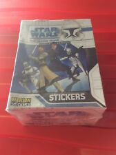 Two Boxes Star Wars The Clone Wars Box 50 Sticker Packets Sealed (merlin)