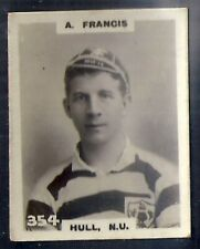 PINNACE FOOTBALL-BLACK OVAL BACK-#0354- RUGBY - HULL NU - A. FRANCIS