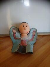 Peluche marionnette à main tête en dur Olive femme de Popeye vintage