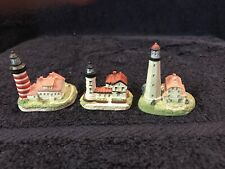 3 Miniature Harbour Lights Spyglass Collection Lighthouses