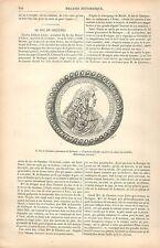 Duc de Chaulnes Gouverneur de Bretagne Cabinet Médailles BNF GRAVURE PRINT 1880