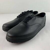 NEW Safe T Step Kandice Women US 12 Wide Work Sneaker Black Shoe Slip Resistant