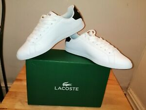Lacoste Graduate Leather white Sneakers, New Size 11