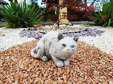 Lying Sammy Cat stone statue garden ornament sculpture figurine
