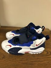 Nike Air Max Speed Turf Trainers Shoes Size 9.5 Mens White Blue Red