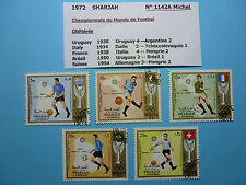 LOT 672 TIMBRES STAMP CHAMPIONNATS DU MONDE FOOTBALL - SHARJAH ANNEE 1972