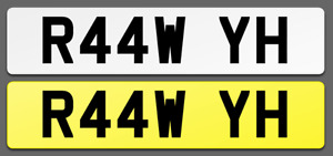 R44 WYH Cherished Reg Number Plate RAW SUPER CAR FAST EVIL POWER PORSCHE GTR GTI