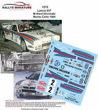 DECALS 1/24 REF 1515 LANCIA 037 RALLY MARKKU ALEN RALLYE MONTE CARLO 1984 RALLY
