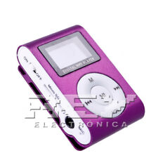 Reproductor MP3 CLIP con Pantalla LCD Color Morado d40