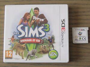 JEU NINTENDO 3DS LES SIMS 3 ANIMAUX ET CIE COMPLET EN FRANCAIS