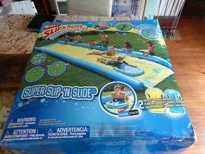 """WHAM-O SUPER SLIP' N SLIDE 26"""" Backyard Water Slide w/Pump, Sprinklers & Boards!"""
