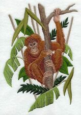 "Orangutan, Gorilla, Monkey, Primate, Embroidered Patch 7""x 10.2"""