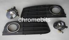 AVANT PHARE ANTIBROUILLARD FEUX & Grilles Kit pour Audi A4 B8 A4L 2009-2012 Neuf