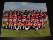 WEST HAM UNITED FC 1987-88 OFFICIAL CLUB PHOTO McAVENNIE BONDS PARKES BRADY INCE
