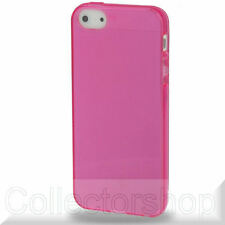 Transparent TPU Case for iPhone 5 (Magenta)