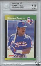 SAMMY SOSA Chicago Cubs White Sox 1989 Donruss Baseball's Best rookie BGS 8.5