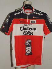 Maillot de Vélo Haut Cyclisme Sport Équipe Chateau D'Ax Nalini Taille L (