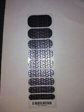 Jamberry Nail Wraps Half Sheet Metallic Bejeweled Geo Black Multicolor