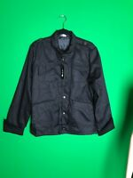 Black Jacket by MUKE New With Tags Size XL Modern Racer Jacket Rain Jacket NWT