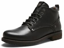 Wrangler Hill Leather Lace Up Ankle Boots Black
