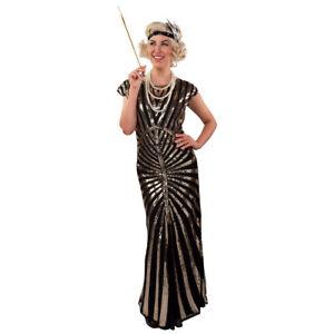 Retro Glitzerkleid 20er Jahre Kleid XXL 54-56 Paillettenkleid Hollywood Kostüm