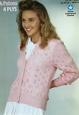 b0ea6b3fa704b8 Patons Knitting Pattern For Lady s Cardigan. To Fit 32-42 Inch Bust
