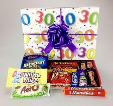 """""""Felice 30th Compleanno"""" - Deluxe Cioccolato scatola cesto INCARTATI il suo LEI"""