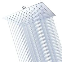 "12"" Bathroom Rain Shower Head Stainless Steel Top Spray Adjustable Home Hotel"