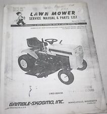 """Owner's Manual & Parts, Vintage Gambles Lawn Mower, 10 HP, 34"""", LM22-2604-9A"""