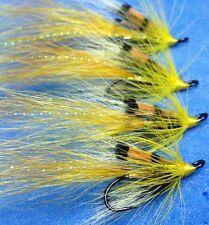 4 Quality Size 12 Double Yellow Allys Shrimp Salmon Sea Trout Salmon Flies