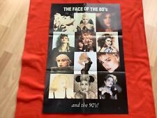 """More details for madonna """"the face of the 80s and the 90s"""" poster - bedroom wall - poster madonna"""