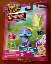 National Geographic Animal Jam Von Otter and Pet Hamster Figures New
