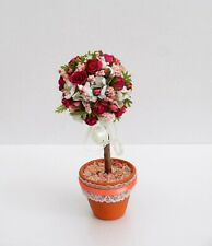 DOLLS HOUSE GARDEN - STANDARD ROSE TREE IN POT