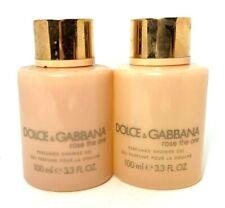 Lot/2 Dolce & Gabbana Rose The One Perfumed Shower Gel ~ 3.3 oz ~