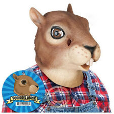 Squirrel Mask Costume Head Halloween Scare Realistic Latex Rubbery Face