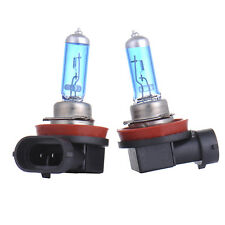 2PCS H11 12V 55W Xenon 5000k White Halogen Blue Car Head Light Lamp Globes Bulbs