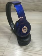 Beats by Dr. Dre Solo HD Matte Blue Headband Headsets Wired