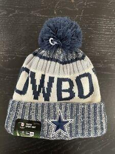 YOUTH Dallas Cowboys NEW ERA BEANIE (NFL ON FIELD) SPORT KNIT CUFF HAT NEW