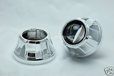 "2x New Cone HID Retrofit Projector Shroud With Centric Ring Fits 2.5"" & 3"" Lens"