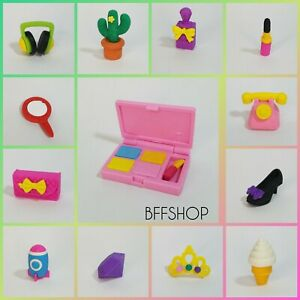 ASSORTED LOT OF 3D ERASERS FIGURINE DOLLHOUSE MINIATURES - You Choose