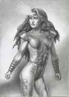 A00925 Jean Grey by Torres *NOT A PRINT* original art drawing marvel comics